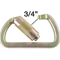 "Carabiner - Auto Locking - Steel - Fusion - Gold Color 3/4"" Gate Opening"